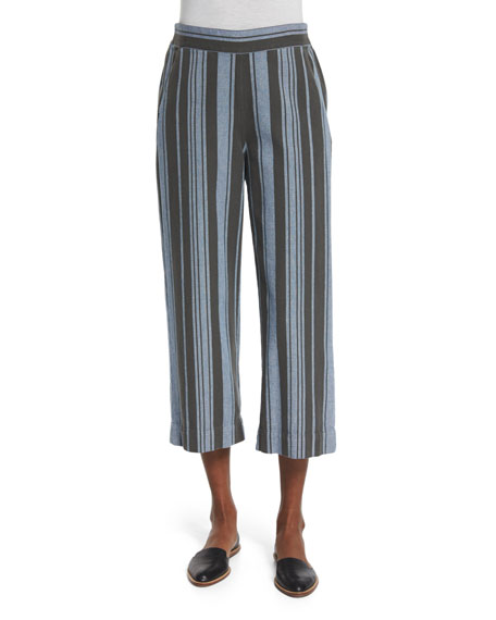 The Easy Cropped Pants, Playa Stripe