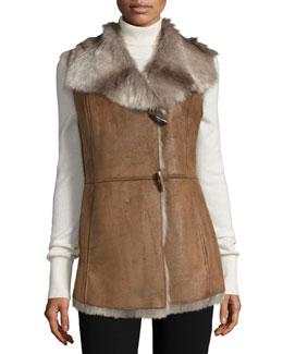 Faux-Fur Vest, Brown