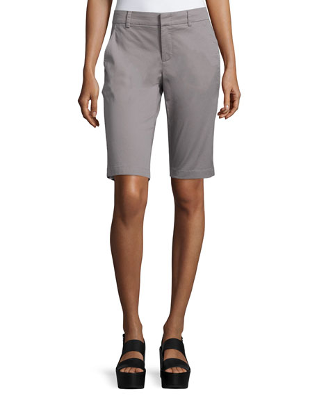 Vince Side-Buckle Bermuda Shorts, Fossil