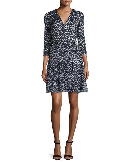 Diane von Furstenberg Irina Silk Wrap Dress, Black