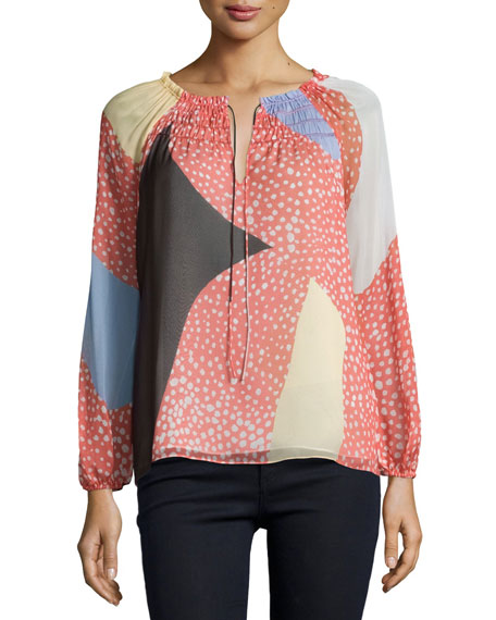 Diane von Furstenberg Parry Starfish Placement Silk Top