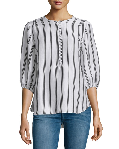 Apiece Apart Nueva Augustina Skinny-Striped Tunic, Daylights