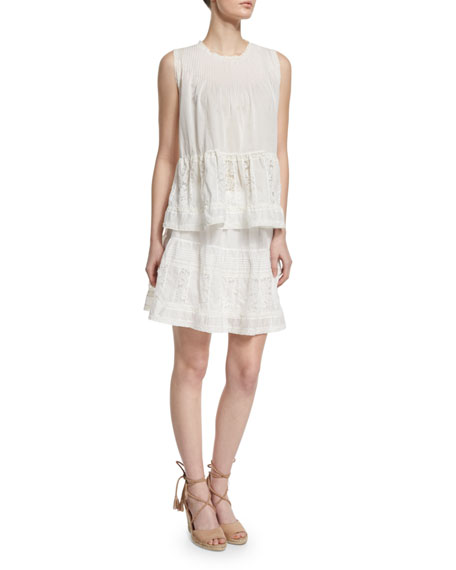 The Jubilee A-Line Mini Skirt, White