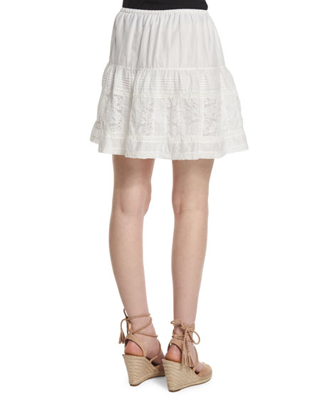 A Line Skirt White - Dress Ala
