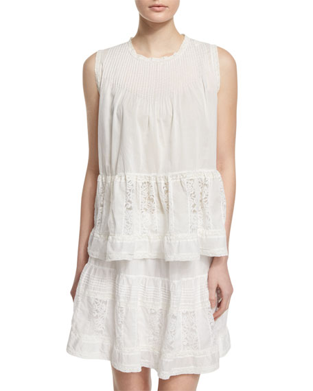 The Great The Jubilee Embroidered Tank, White