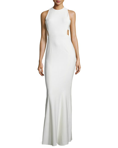 Russell Sleeveless Maxi Dress, Ivory