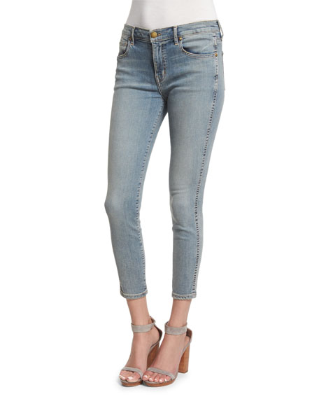The Great The Almost Skinny Cropped Jeans Wyoming Wash