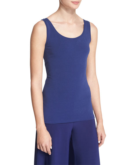 NIC+ZOE Perfect Jersey Scoop-Neck Tank, Abyss