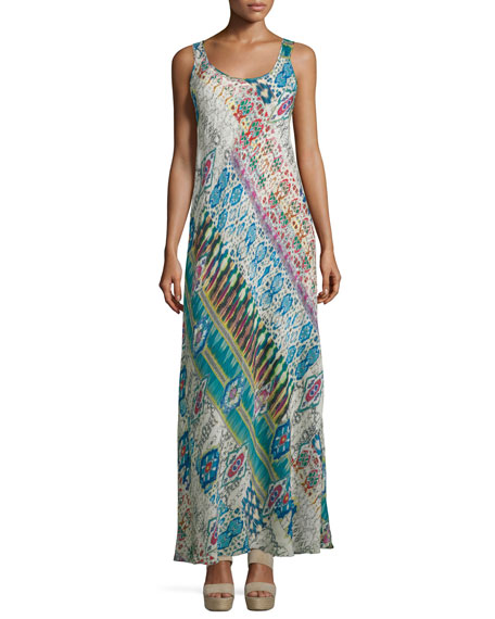 Johnny Was Collection Blossom Mix-Print Maxi Dress, Multi