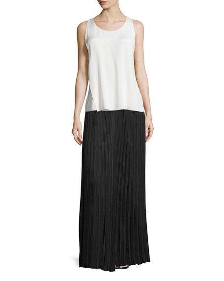 Joseph Hilde Pleated Maxi Skirt, Black