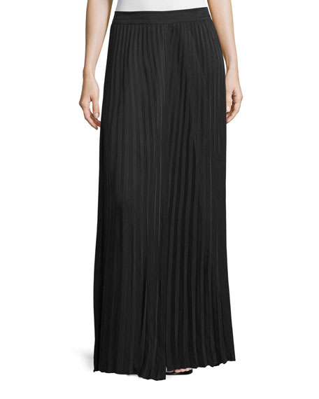 Joseph Hilde Pleated Maxi Skirt, Black