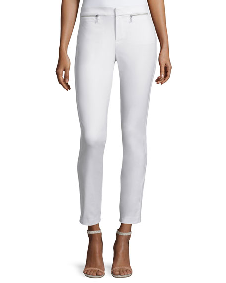 Rebecca Taylor Skinny Stretch Ankle Pants, Snow
