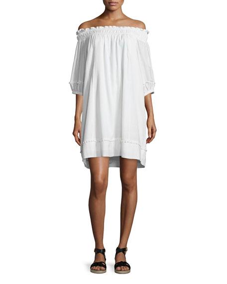 Felina Off-The-Shoulder Dress, White