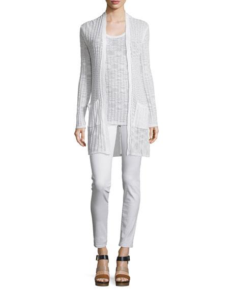 Izzy Low-Rise Skinny Jeans, White