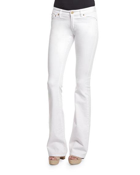 MICHAEL Michael Kors Selma Flare-Leg Jeans, White