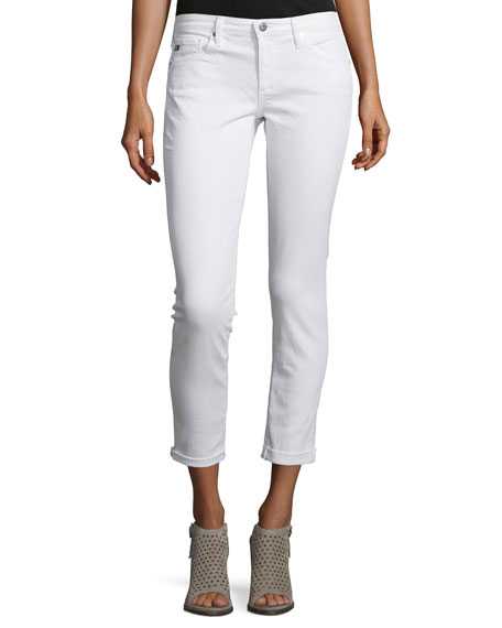 The Stilt Roll-Up Cropped Jeans, White