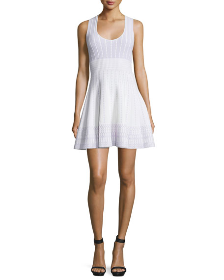 Just Cavalli Sleeveless Fit-and-Flare Dress, Violet