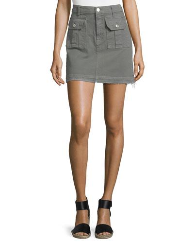 Utility Pocket Mini Skirt, Moss