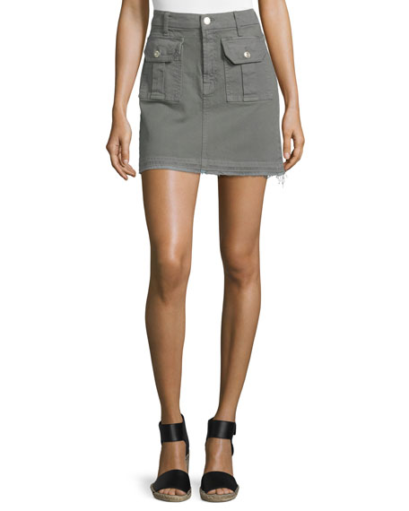 7 For All Mankind Utility Pocket Mini Skirt,