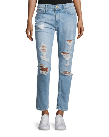 Current/Elliott The Fling Distressed Ankle Jeans, Bewitched