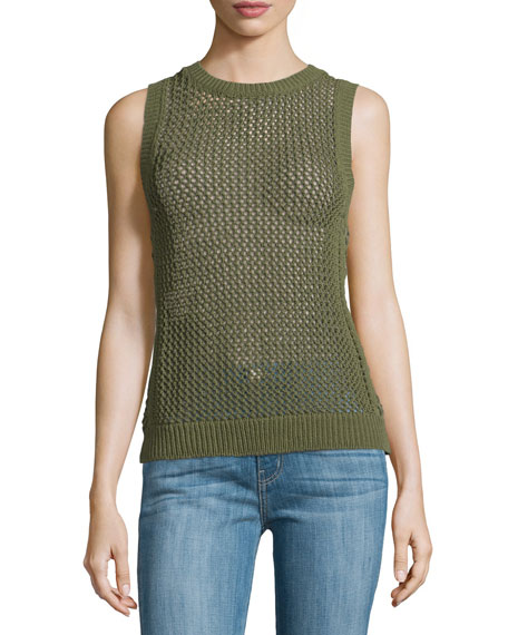 Current/Elliott The Rope Stitch Tank, Burnt Olive Military