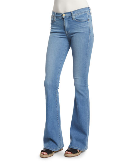 FRAME DENIM Le High Flare-Leg Jeans, Sunnyspot