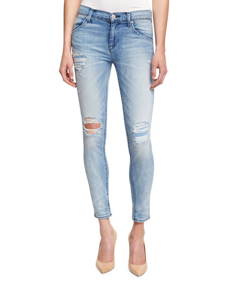 Hudson Lilly Distressed Ankle Jeans, Rialto