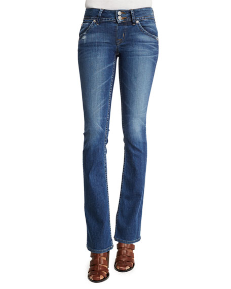 Hudson Sigboot Low-Rise Boot-Cut Jeans, Point Break, Petite