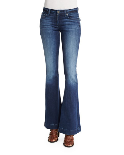 Ferris Low-Rise Flare-Leg Jeans, Canal