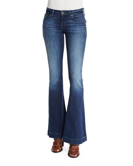 Hudson Ferris Low-Rise Flare-Leg Jeans, Canal