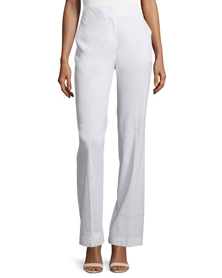 Theory Alldrew Crunch High-Waist Pants