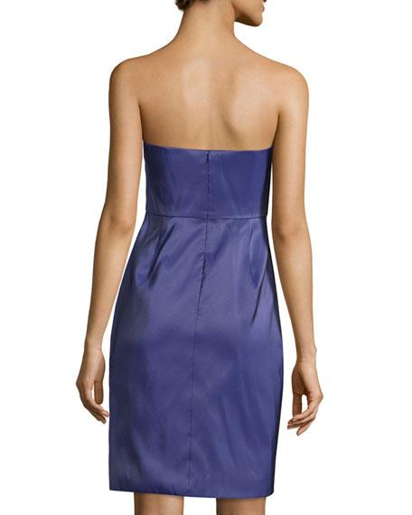 Bustier Structured-Skirt Dress, Violet