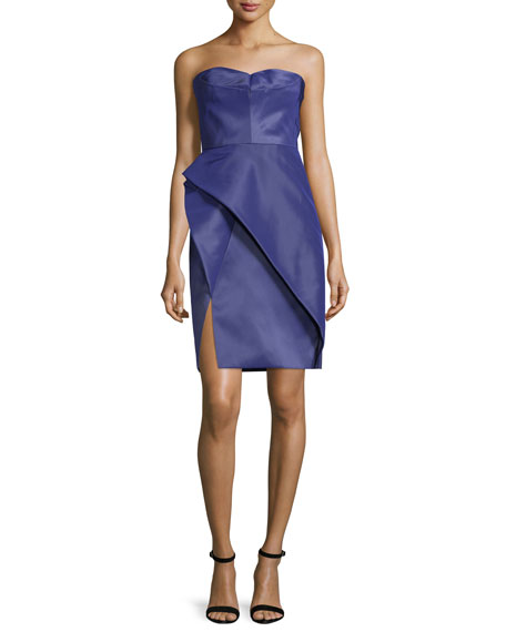 J. Mendel Bustier Structured-Skirt Dress, Violet