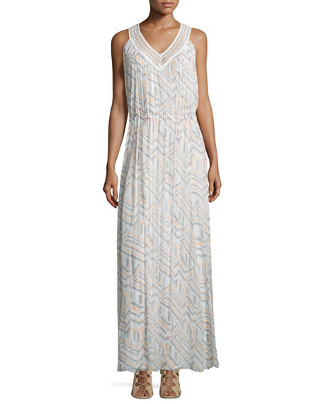 Rebecca Minkoff Simona Geometric-Print Maxi Dress, Geo