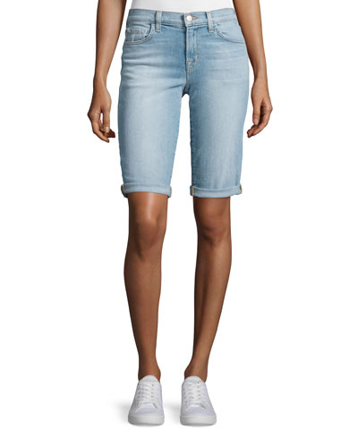 Beau Denim Bermuda Shorts, Beach Line
