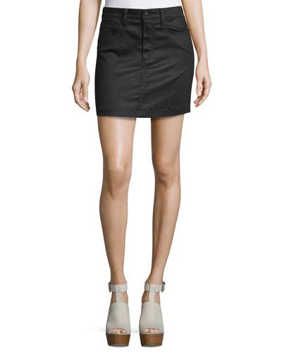 Crescendo Denim Mini Skirt, Lyneil (Black)