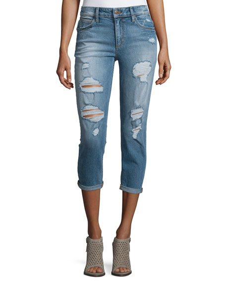 Joe's Jeans Billie Distressed Cropped Jeans, Bijou
