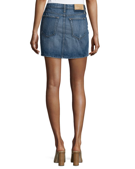 Crescendo Denim Mini Skirt, Antonia