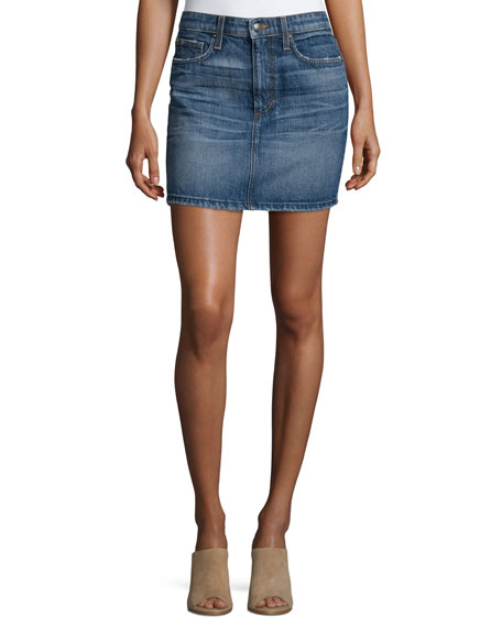 Joe's Jeans Crescendo Denim Mini Skirt, Antonia