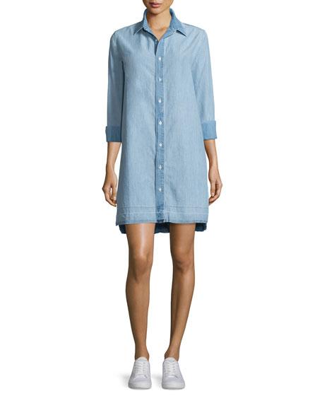 rag & bone/JEAN Beau Button-Front Denim Shirtdress, Kenton