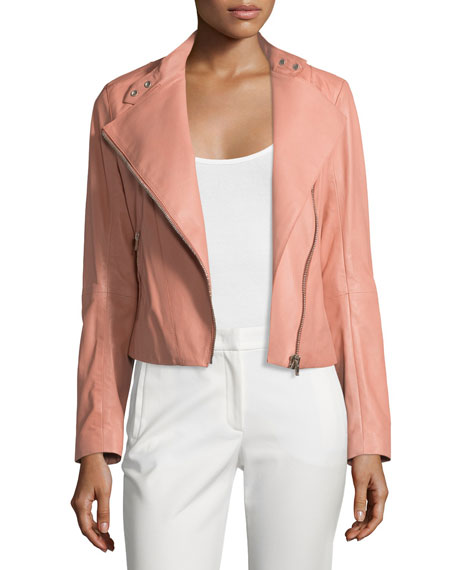 Joseph New Alpha Leather Jacket, Rose