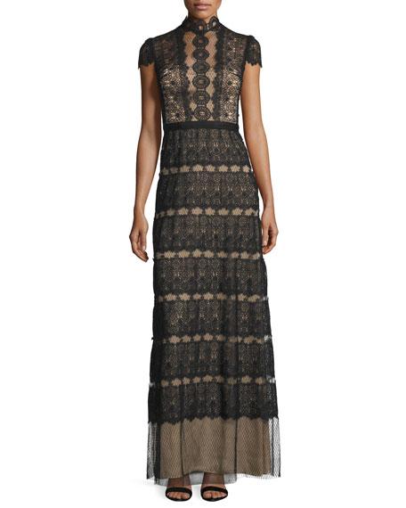 Catherine Deane Firenze Lace & Point d'Esprit A-line Gown
