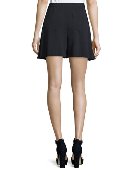High-Waist A-Line Mini Skirt, Dark Night