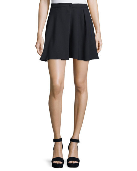 High-Waist A-Line Mini Skirt, Dark Night