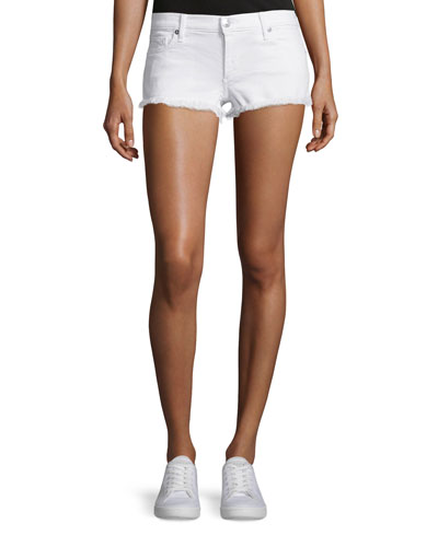 Joey Cutoff Denim Shorts, Optic White