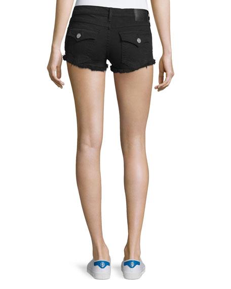 Joey Cutoff Denim Shorts, Jet Black