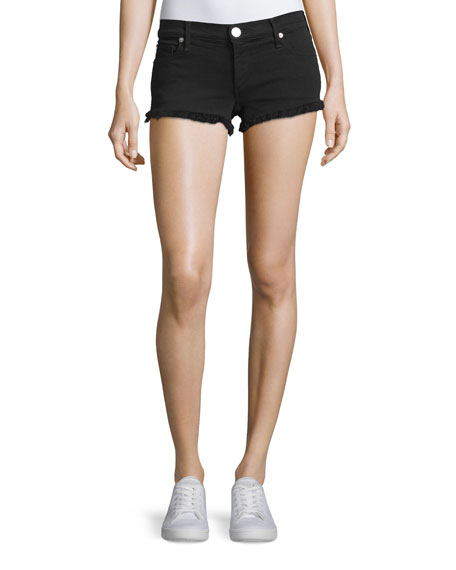 Joey Cutoff Denim Shorts, Jet Black