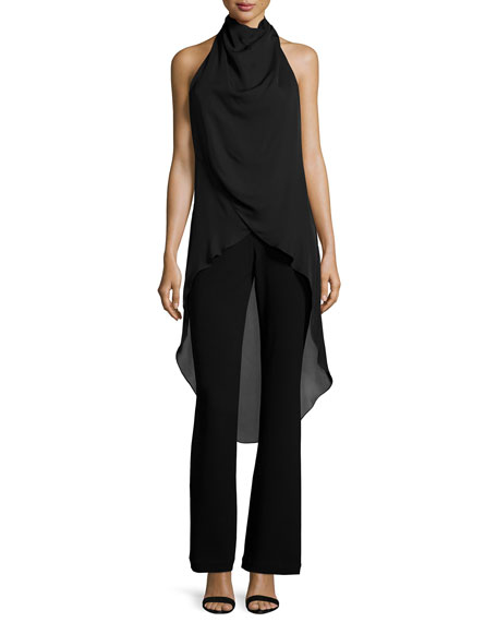 The Caravan Halter Jumpsuit, Black