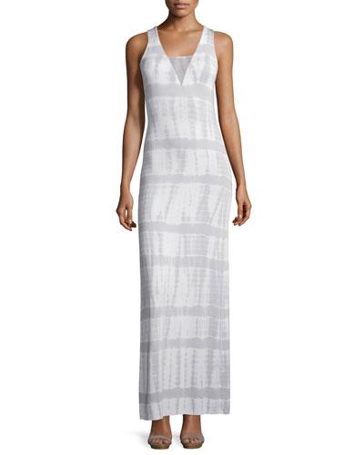 Mari Snakeskin Tie-Dye-Wash Maxi Dress