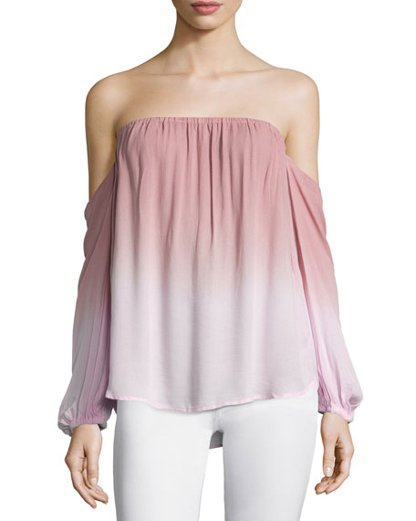Young Fabulous and Broke March Off-The-Shoulder Ombre Top,